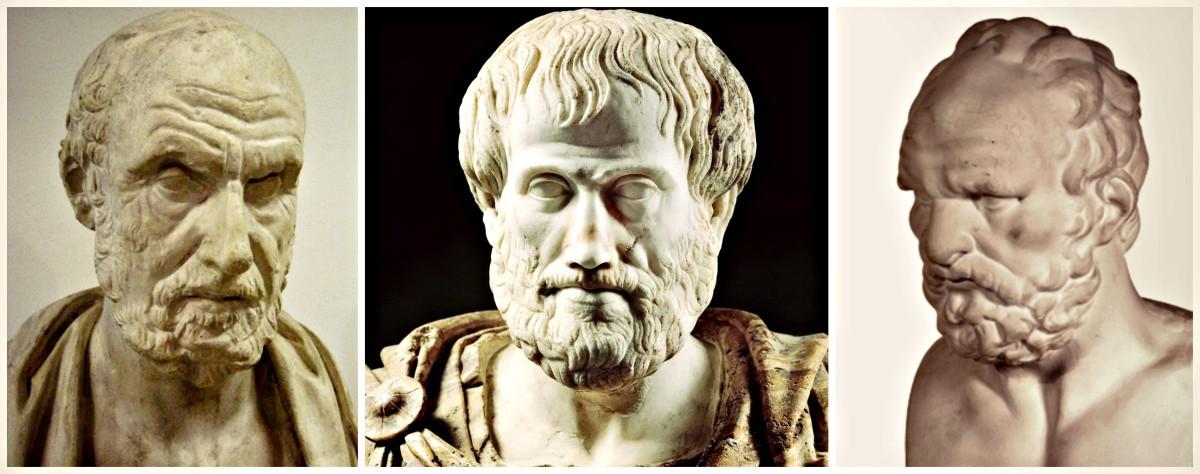 Hipócrates, Aristóteles y Galeno