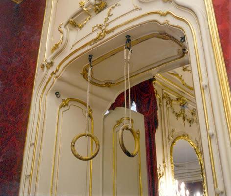 Anillas del gimnasio de la emperatriz en palacio.