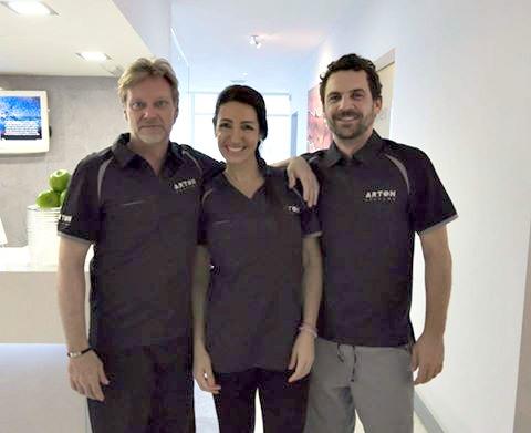 Volke Samrei, Amaya Saez, dr. Victor Cubillo. Team ArtOn 4
