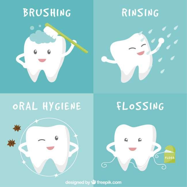 higiene, manchas blancas